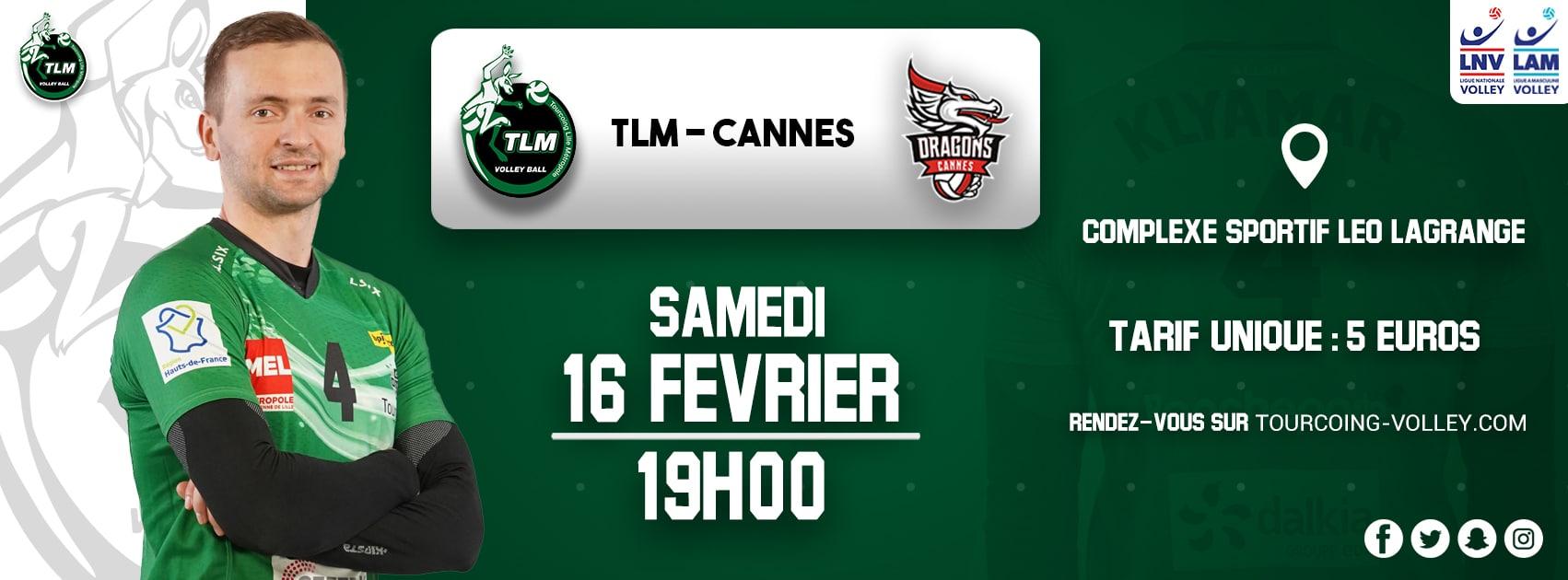 Invitation Match du 16 Février 2019 contre Cannes