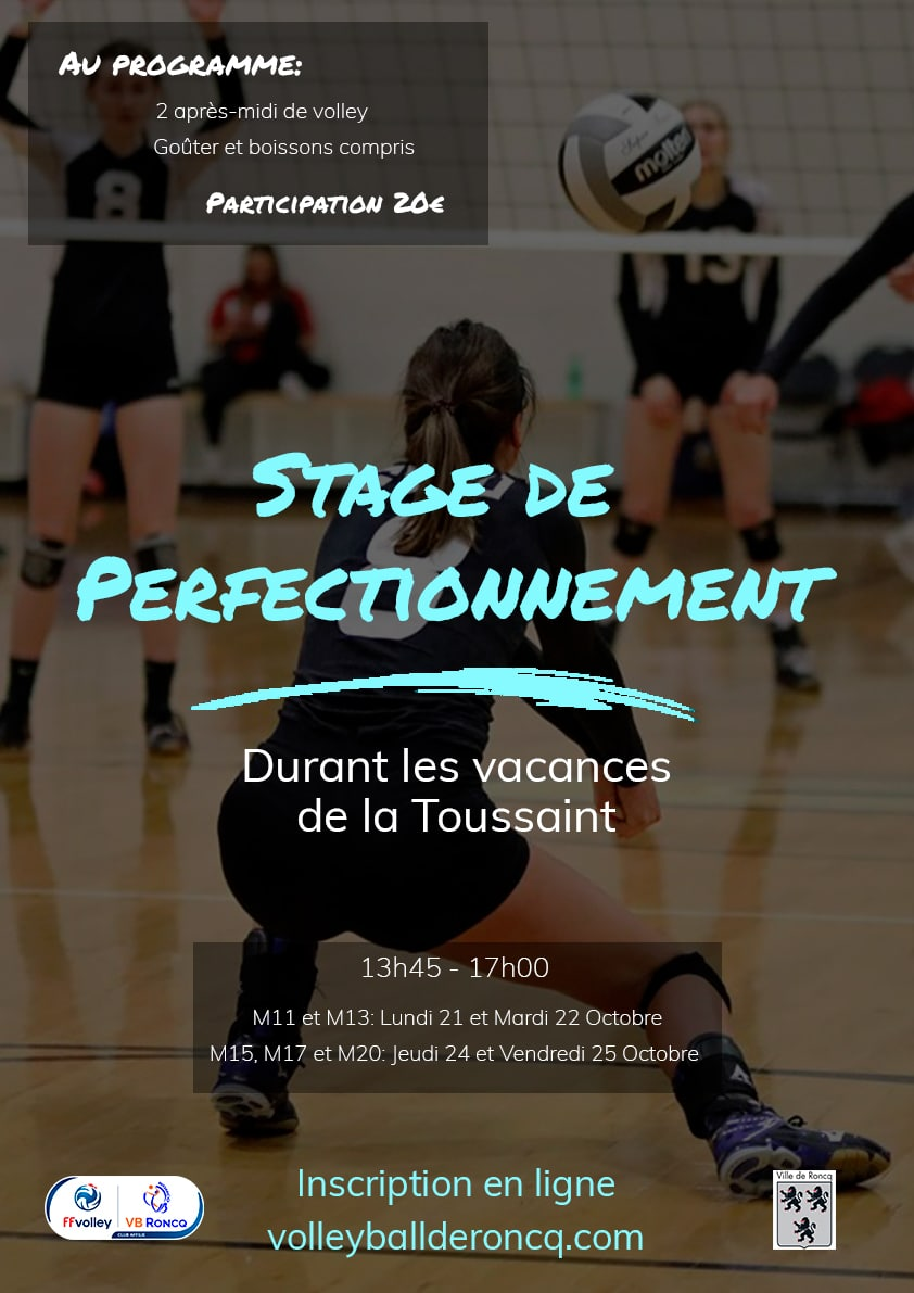 Stage de perfectionnement Toussaint 2019